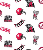 UNIVERSITY OF ALABAMA COTTON FABRIC-100% COTTON -ALABAMA FABRIC SOLD BY THE YARD-ALABAMA COLLEGE COTTON FABRIC BY SYKEL