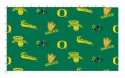 University of Oregon Fine Cotton Classic Coloured Ground Allover