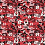 Cotton University of Nebraska Cornhuskers College Team Sports Cotton Fabric Print - sneb084s