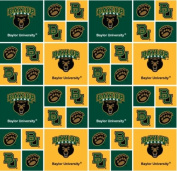 BAYLOR BEARS COTTON FABRIC-BAYLOR COTTON FABRIC SOLD BY THE YARD-NCAA COLLEGE COTTON FABRIC
