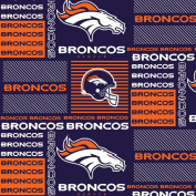 DENVER BRONCOS COTTON FABRIC-NFL DENVER BRONCOS 100% FABRIC-SOLD BY THE YARD