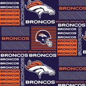 DENVER BRONCOS COTTON FABRIC-NFL DENVER BRONCOS 100% FABRIC-SOLD BY THE YARD
