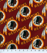 Cotton NFL Washington Redskins Football Cotton Fabric Print By the Yard