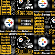 PITTSBURGH STEELERS COTTON FABRIC-NFL PITTSBURGH STEELERS 100% FABRIC-SOLD BY THE YARD