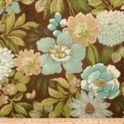 Swavelle/Mill Creek Indoor/Outdoor Jolene Floral Chocolate Fabric