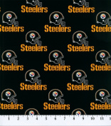 Cotton NFL Pittsburgh Steelers Sports Team Cotton Fabric Print By the Yard