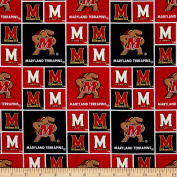 Collegiate Cotton Broadcloth University of Maryland Fabric