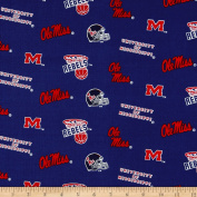 Collegiate Cotton Broadcloth University of Mississippi Fabric