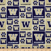 Collegiate Cotton Broadcloth University of Washington Fabric