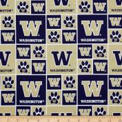 Collegiate Cotton Broadcloth University of Washington Fabric