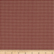 Magnolia Home Fashions Madrid Cheque Red Fabric