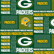 GREEN BAY PACKERS COTTON FABRIC-NFL GREEN BAY PACKERS 100% FABRIC-SOLD BY THE YARD