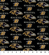 Cotton NFL Baltimore Ravens Football Cotton Fabric Print By the Yard
