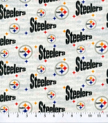 Cotton NFL Pittsburgh Steelers Football Cotton Fabric Print By the Yard