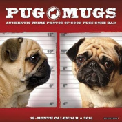 Pug Mugs 18-Month Mini Calendar