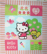 110cm Wide HELLO KITTY Patch Cotton Fabric By The Panel
