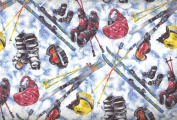 Sports Novelty By RJR Fabrics - 100% Cotton, 110cm Wide By the Yard