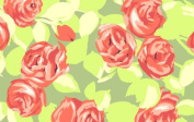 110cm Wide Love Tumble Roses Tangerine By Amy Butler By the Yard