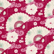 Tilda Fat Quarter - Chinese Fan Hot Pink