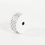 White with Black Polka Dots Polyester Ribbon 3.8cm X 10 Yards