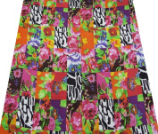 Floral Pattern Fabric Cotton Voile 110cm Width Multicolor Crafted Y 1 Yard