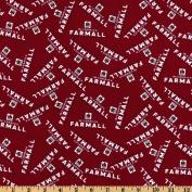 Farmall International Harvester Logo Red Fabric