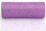 Kel-Toy Glitter Tulle Fabric, 15cm by 10-Yard, Lavender