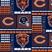 CHICAGO BEARS COTTON FABRIC-NFL CHICAGO BEARS 100% FABRIC-SOLD BY THE YARD