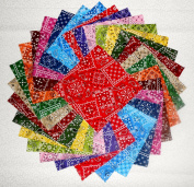 60 13cm Beautiful Blazing Bandanna Charm Pack
