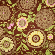 Amy Butler Lotus Lacework Brown Fabric Yardage