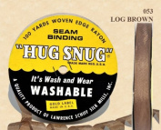 "Hug Snug Seam Binding 100-yds Roll ½"" Wide Hug Snug ~ 053 LOG BROWN ~ 100 percentage Woven-edge Rayon ~ Wash 'n Wear ~ made in USA"