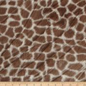 Minky Giraffe Tan/Cream Fabric
