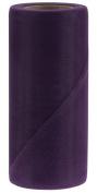 Falk Fabrics Tulle Spool for Decoration, 15cm by 25-Yard, Eggplant