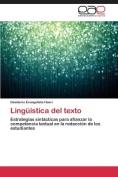 Linguistica del Texto [Spanish]