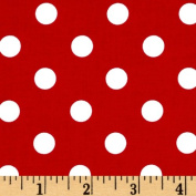 Michael Miller That's It Dot Minnie Red & White Fabric