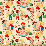 Michael Miller Retro Candy Shop Cream Fabric