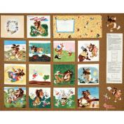 Tawny Scrawny Lion Soft Book Panel White/Multi Fabric