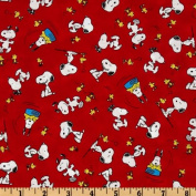 Happiness Is…Peanuts Snoopy & Woodstock Red Fabric