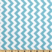 Riley Blake Chevron Small Aqua Fabric