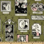 The Ghastlies A Ghastlie Gallery Frames Green Fabric