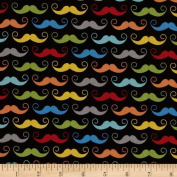 Riley Blake Geekly Chic Moustache Black Fabric