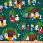 Peanuts Christmas Time Christmas Play Forest Fabric