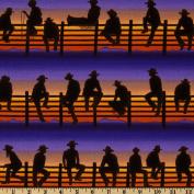 Kanvas Best of the West Midnight Cowboy Purple Fabric
