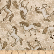 Enchanted Kingdom Unicorn Cream Fabric