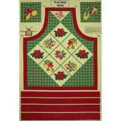 Fruit Salad Apron Panel Red/Green Fabric