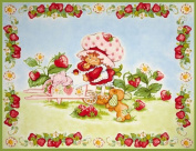 Strawberry Shortcake Classic Panel Pink Fabric