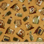 Just A Pinch Herbs & Spices Toss Orange Fabric