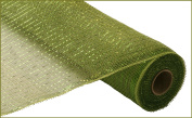 Deco Mesh Design - Moss / Apple with Lime Metallic Deco Poly Mesh 50cm x 10 yards