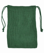 13cm x 18cm Hunter Green Jute Favour Bags - 12 Pack