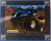 New Holland Agriculture Fabric By Sykel - 100% Cotton, 110cm x 90cm PANEL
